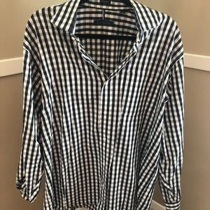 Tommy Hilfiger black and white gingham dress shirt